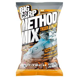 Bait-tech krmítková zmes big carp method mix tiger & peanut 2 kg