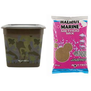 Bait-tech krmítková zmes camo bucket halibut marine method mix 3 kg