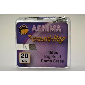 Ashima extra potápavá náväzcová šnúra groundhog 20m 25 lb-farba brown