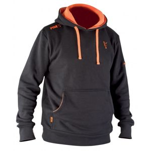Fox Mikina Black/Orange Hoody - S