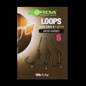 Korda hotové náväzce loop rigs df wide gape barbless 8,2 kg-háčik 8