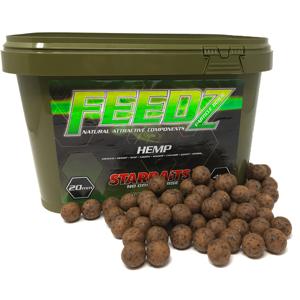 Starbaits boilies feedz 14 mm 4 kg-hemp & tiger
