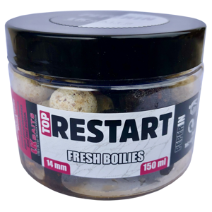 Lk baits fresh boilie top restart 14 mm 150 ml - peperin