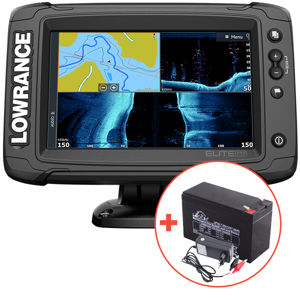 Lowrance echolot elite 7ti² so sondou active imaging 3v1