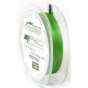 Mistrall splietaná šnúra shiro zelená 150 m-priemer 0,04 mm / nosnosť 2,95 kg