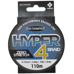 Ron thompson splietaná šnúra hyper 4 braid grey 110 m-priemer 0,15 mm / nosnosť 8,1 kg