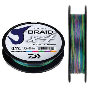 Daiwa splietaná šnúra j-braid chartreuse 300 m-priemer  0,18 mm / nosnosť 12 kg