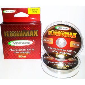 Venturieri - fluorocarbon  fluoromax 50 m crystal-priemer 0,18mm / nosnosť 3,85kg
