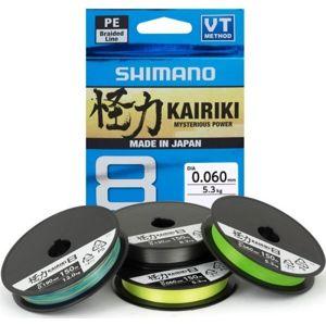 Shimano splietaná šnúra kairiki 8 zelená 150 m-priemer 0,215 mm / nosnosť 20,8 kg