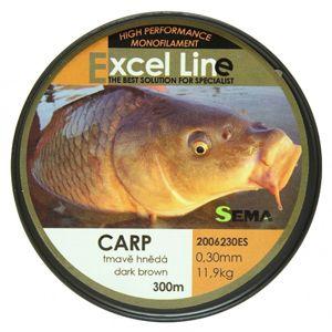 Sema vlasec carp camo hnedá 1200 m-priemer 0,30 mm / nosnosť 11,9 kg