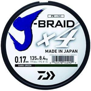 Daiwa splietaná šnúra j-braid 4 žltá 270 m-priemer 0,33 mm / nosnosť 22,4 kg