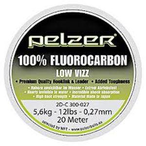Pelzer - návazcový vlasec  fluorocarbon 20 m crystal-priemer 0,33mm / nosnosť 18lb / 7,4kg