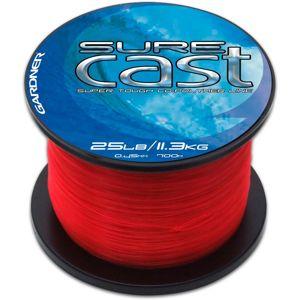 Gardner vlasec sure cast  red červená-priemer 0,35 mm / nosnosť 15 lb / návin 1030 m