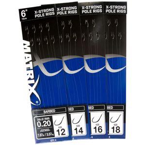 """Matrix nádväzec 4"""" bait band method rigs barbed-veľkosť háčika 12"""